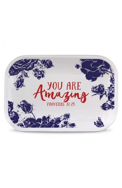 Tray Ceramic Rectangle Pretty Prints You Are Amazing