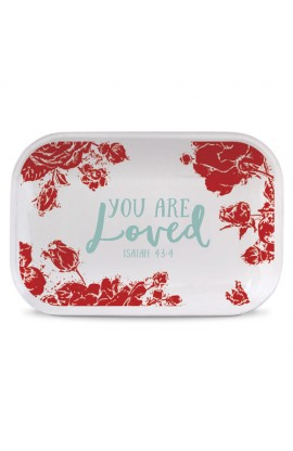 Tray Ceramic Rectangle Pretty Prints You Are Loved