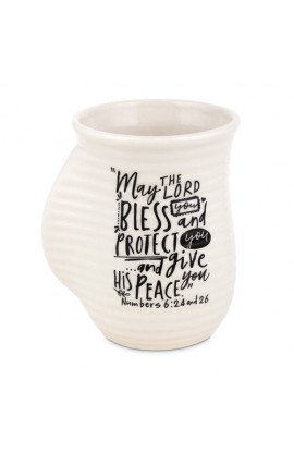 Ceramic Mug Handwarmer Scripture Ink Blessings