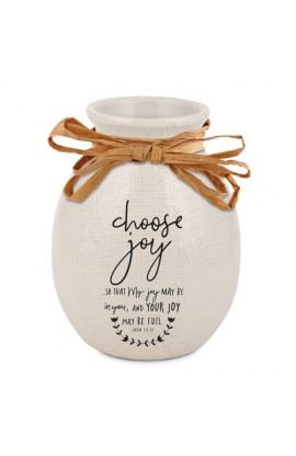 Vase Ceramic Hand Drawn Doodles Choose Joy