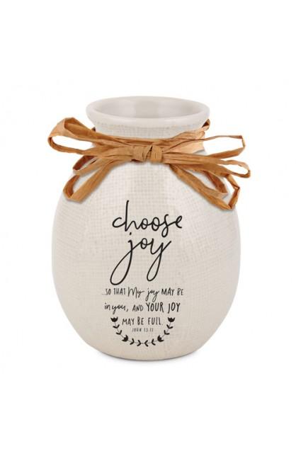 Vase Ceramic Hand Drawn Doodles Choose Joy