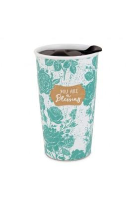 Tumbler Mug Ceramic Pretty Prints You Are A Blessing