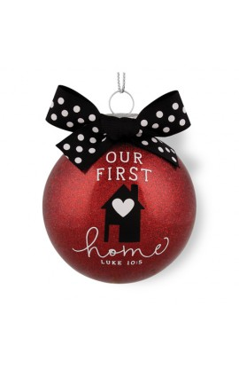 Christmas Ornament Glass Special Moments Our First Home