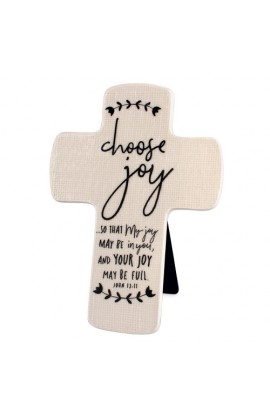 Cross Ceramic Hand Drawn Doodles Choose Joy
