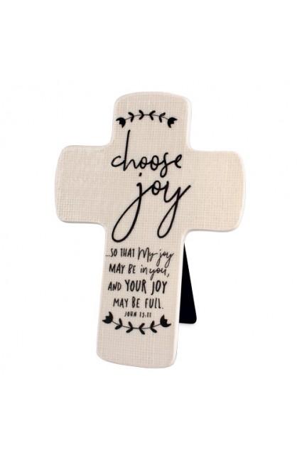 Cross Ceramic Hand Drawn Doodles Choose Joy