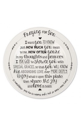Plate Ceramic Giving Plate Praying For You
