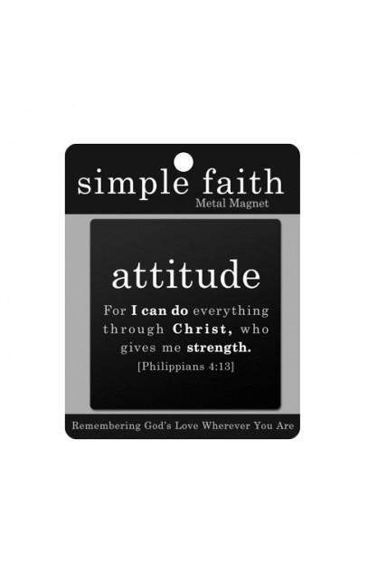 Magnet Metal Black Simple Faith Attitude