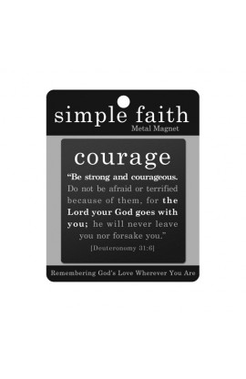 Magnet Metal Black Simple Faith Courage