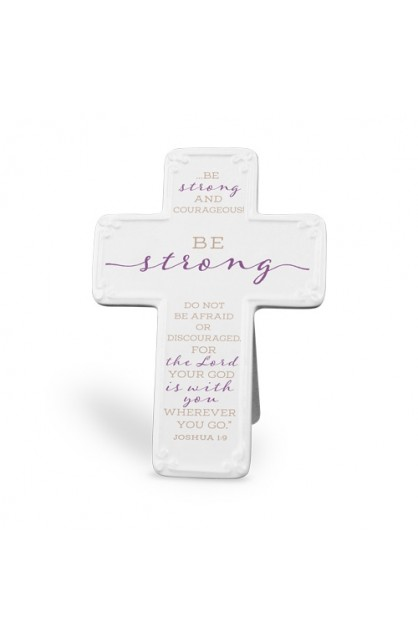 Cross Ceramic Scripture Blessings Be Strong