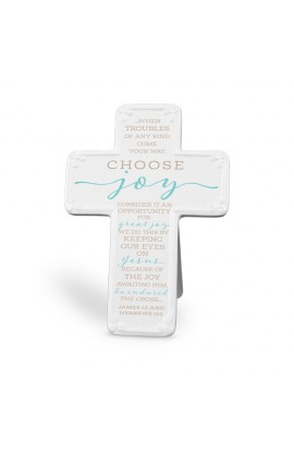 Cross Ceramic Scripture Blessings Choose Joy