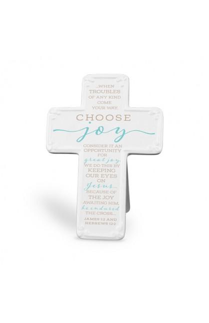 Cross Ceramic Scripture Blessings Choose Joy