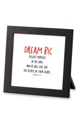 Framed Art MDF Tiny Letters Dream Big