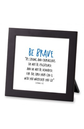 Framed Art MDF Tiny Letters Be Brave