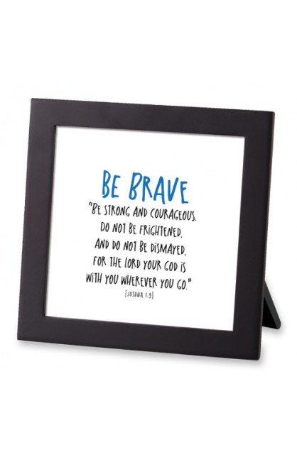 Framed Art MDF Tiny Letters Be Brave