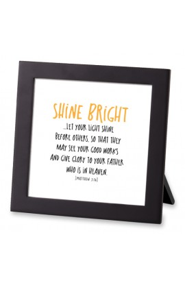 Framed Art MDF Tiny Letters Shine Bright