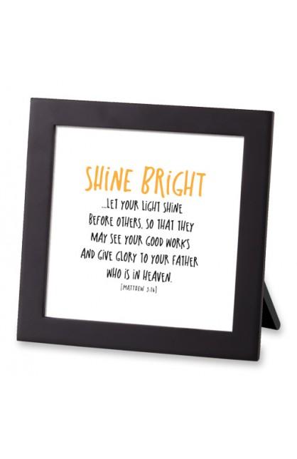 Framed Art MDF Tiny Letters Shine Bright