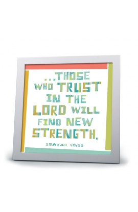 Framed Art Wht Frm Trust in the Lord