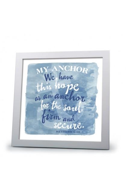 Framed Art Wht Frm My Anchor