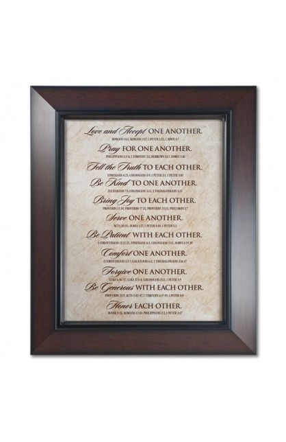 Plaque Wall MDF Framed Print One Another