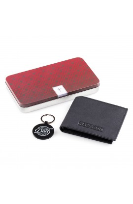 Wallet Keyring in Tin Leather