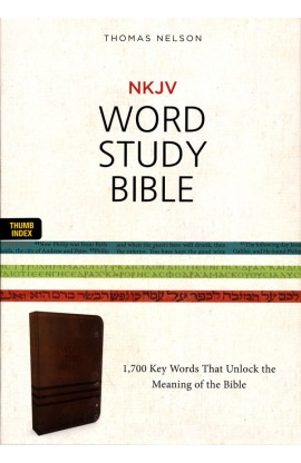 NKJV WORD STUDY BIBLE BROWN THUMB INDEXED