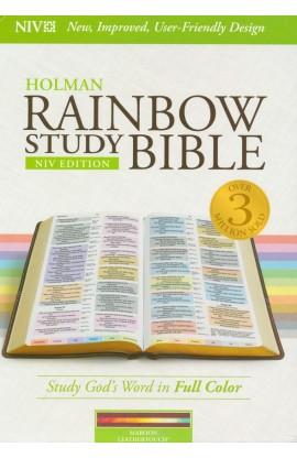 NIV RAINBOW STUDY BIBLE MAROON