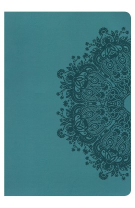 NKJV GIANT PRINT REFERENCE TEAL LEATHER TOUCH