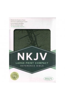 NKJV LARGE PRINT COMPACT REFERENCE BIBLE CHARCOAL LEATHERTOUCH