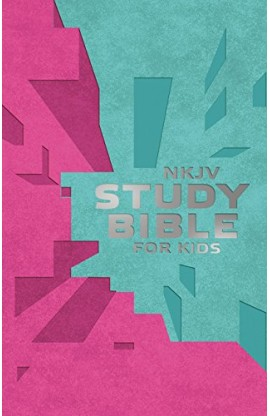 NKJV STUDY BIBLE FOR KIDS PINK TEAL COVER