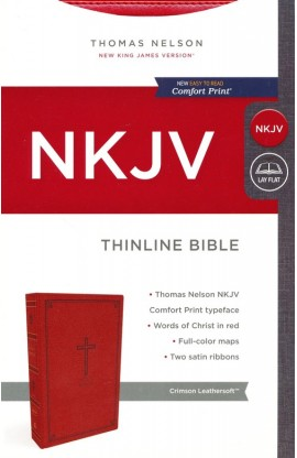 NKJV THINLINE BIBLE LEATHERSOFT RED