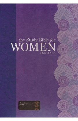 THE STUDY BIBLE FOR WOMEN NKJV COCOA GENUINE LEATHER
