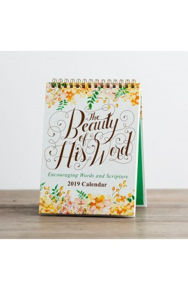 THE BEAUTY OF HIS WORD DESKTOP CALENDAR