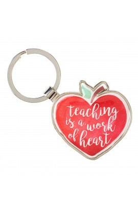 KEYRING TIN TEACHER WORK OF HEART