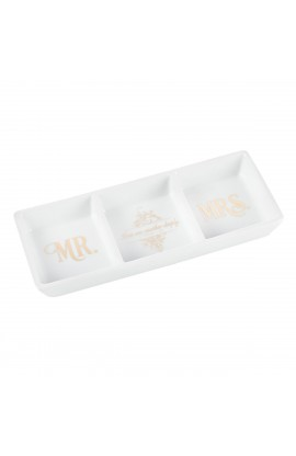 Tray Porcelain Trinket Mr and Mrs