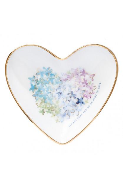 Trinket Tray Violet Heart