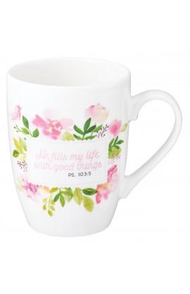 Mug Value He Fills My Life Floral