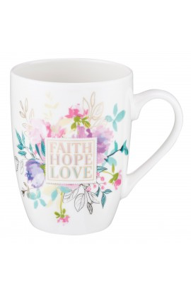 Mug Value Faith Hope Love Floral