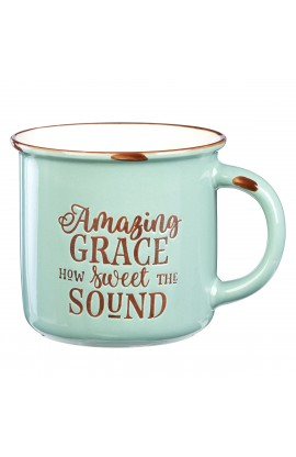Camp Mug Chip Amazing Grace Green