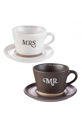 Mug Set 4pc Mr & Mrs