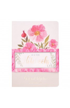 Notebook Set Lg Flowers Anchor Bird