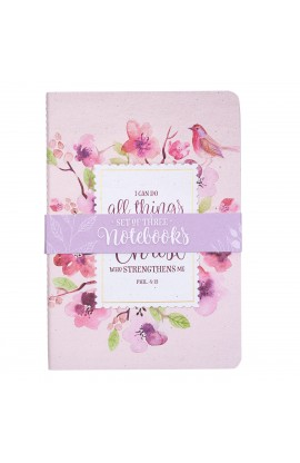 Notebook Set Med Floral