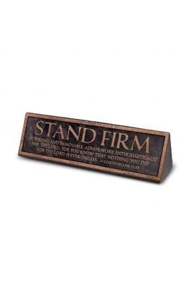 Plaque Resin Desktop Reminder Copper Stand Firm