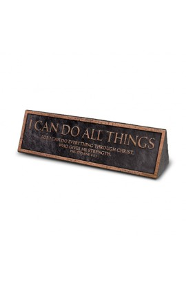Plaque Resin Desktop Reminder Copper I Can Do All Things