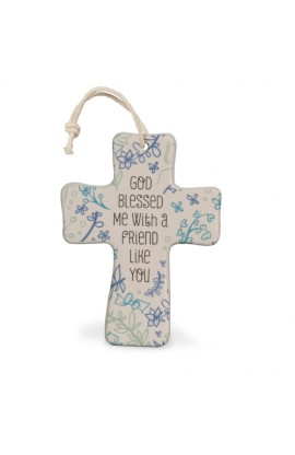 Cross Ceramic Natural Blessings God Blessed Me