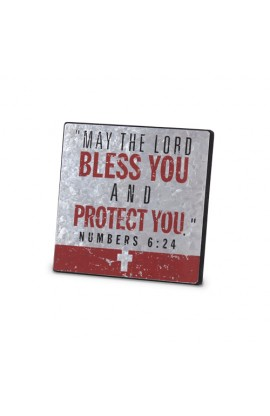 Plaque Metal MDF Confirmation Red & Silver