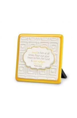 Plaque Ceramic Pattern of Praise Trust in Him at All Times