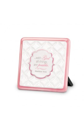 Plaque Ceramic Pattern of Praise With God All Things are Possible