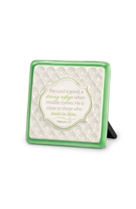 Plaque Ceramic Pattern of Praise The Lord is Good