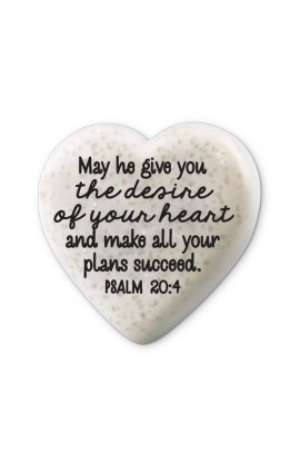 Plaque Cast Stone Scripture Stone Hearts of Hope Success