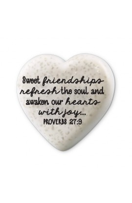 Plaque Cast Stone Scripture Stone Hearts of Hope Friendships